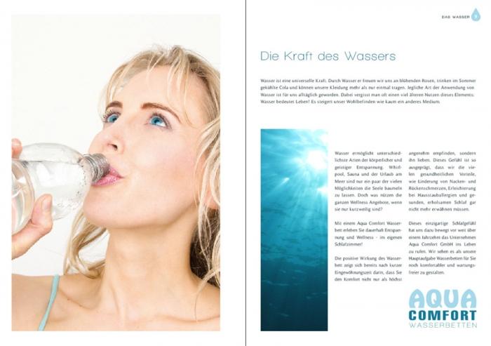 Katalog Shooting für Aqua Comfort