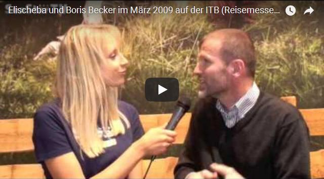 Elischeba interviewt Boris Becker auf der ITB 2009