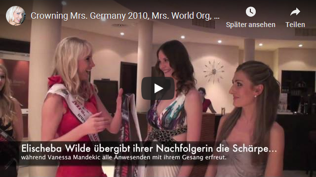 Krönung der Mrs Germany 2010 in Rheinbach