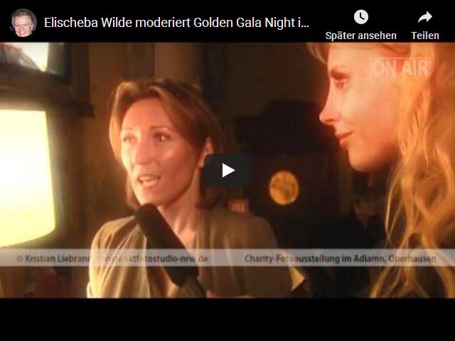Elischeba moderiert Golden Gala Night in Oberhausen