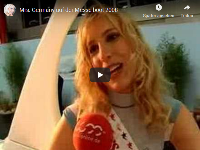 Mrs Germany auf der Messe boot 2008