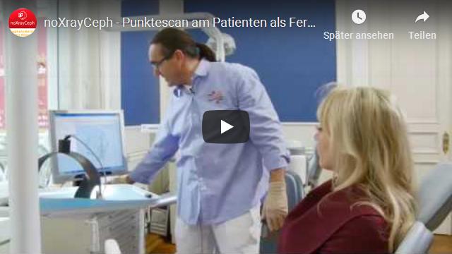 noXrayCeph Punktescan am Patienten